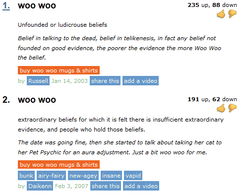 Woo woo two evil actors for Special urban dictionary