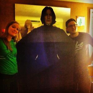 ROOMIES. Me, bro, and Severus Snape (he goes where I go).