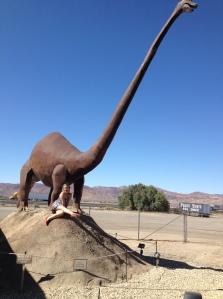 I met a dinosaur!!
