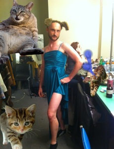 Actor Tyler Ryan looking fabulous. Okay, so maybe I have a laser cat problem...