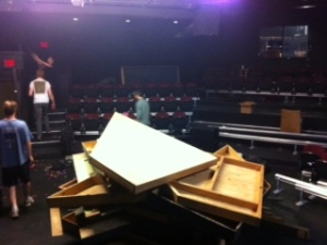 Taking apart the Arena Stage. :(
