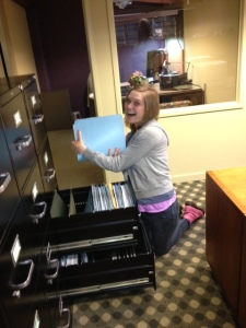 See? Look! I am so happy! Look at me filing!