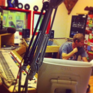 Inside the KBOO studio...