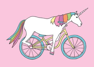 That unicorn made that bike its bitch.
